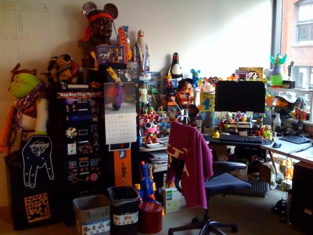 Chris's desk
